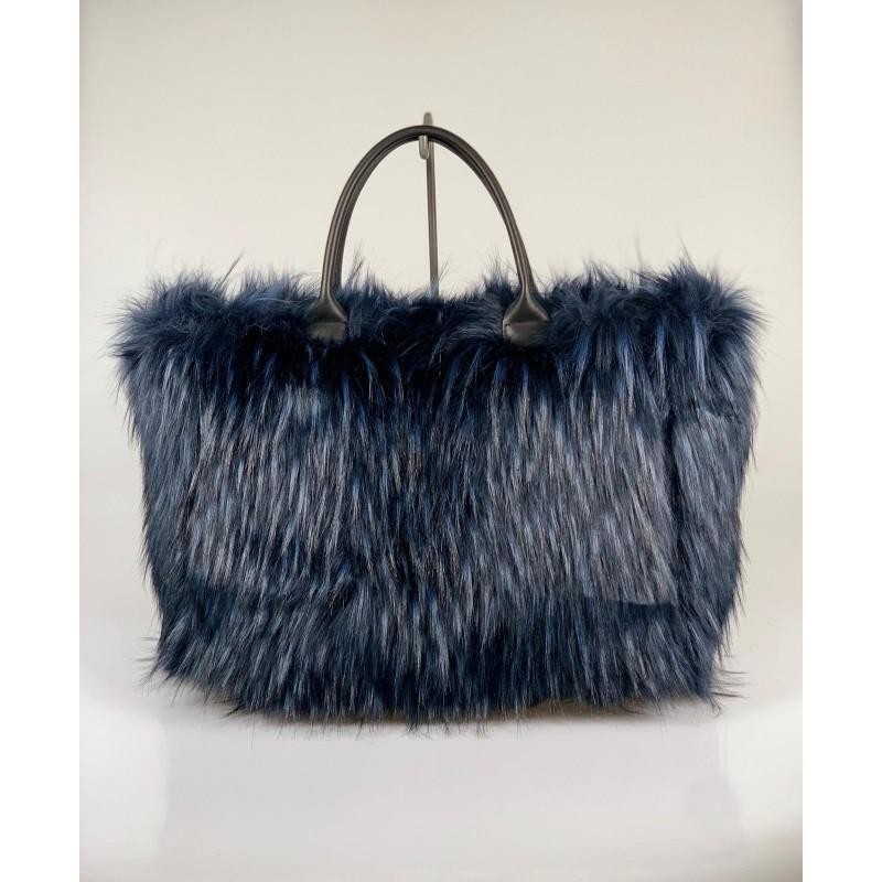 Maxi Shopper Ecofur Blu