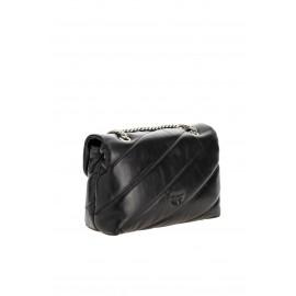 Pinko Classic love bag Puff Maxi Quilt in Nappa nera