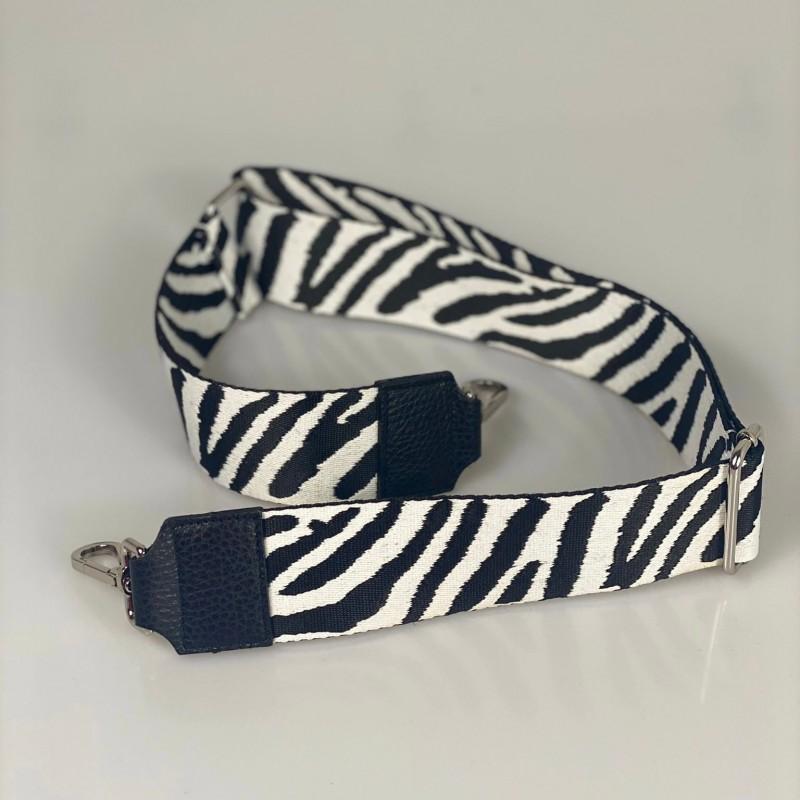 Tracolla zebra accessorio argento
