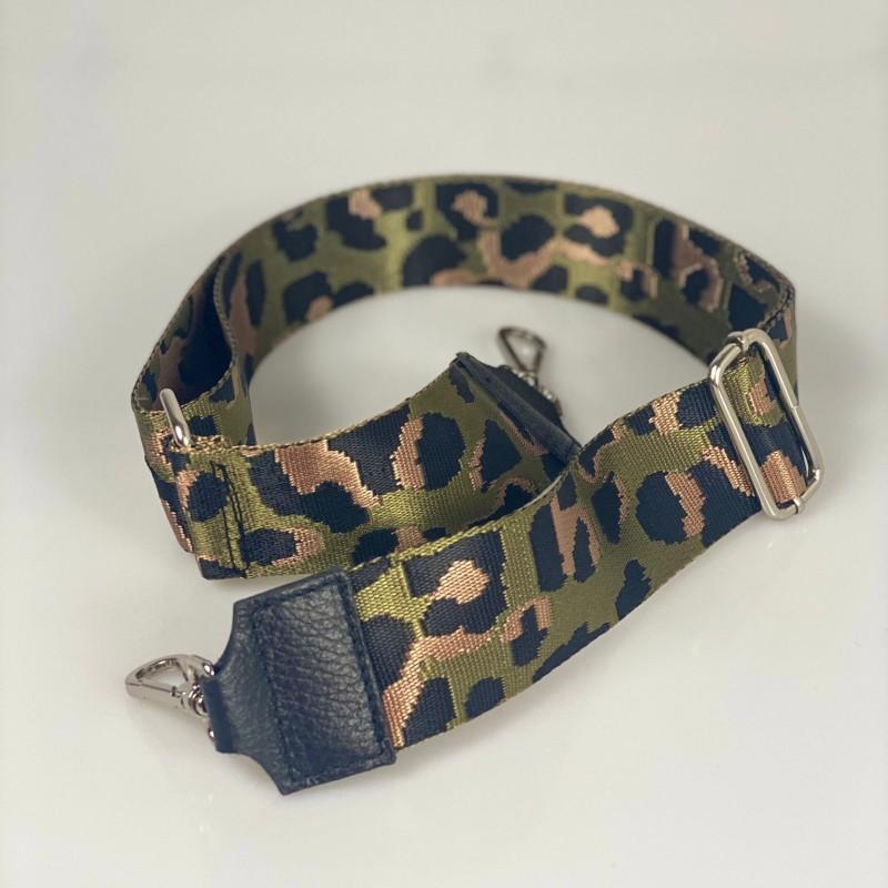 Tracolla leopard accessorio argento