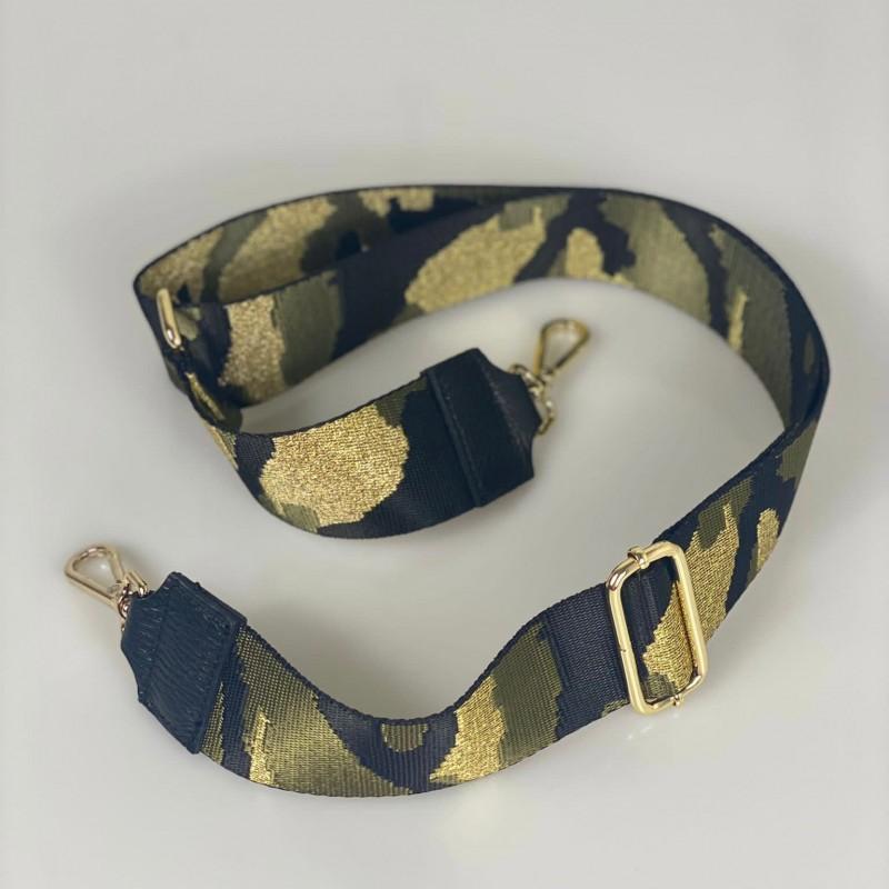 Tracolla camouflage accessorio oro