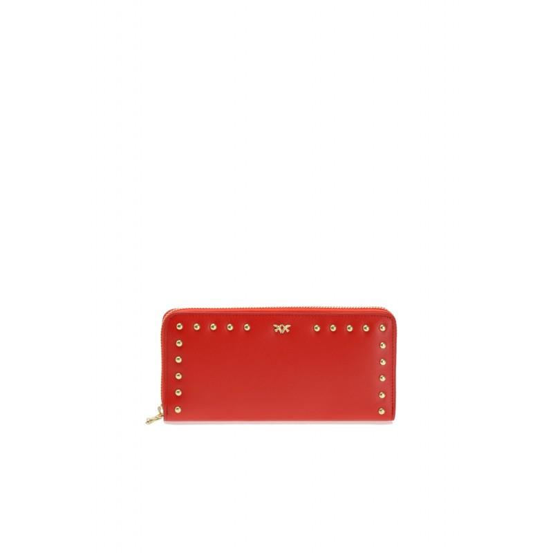 Pinko portafoglio zip-around rosso